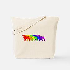 Rainbow Brittany Spaniel Tote Bag