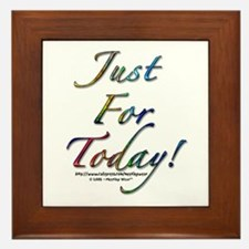 """""""Just for today"""" Framed Tile"""