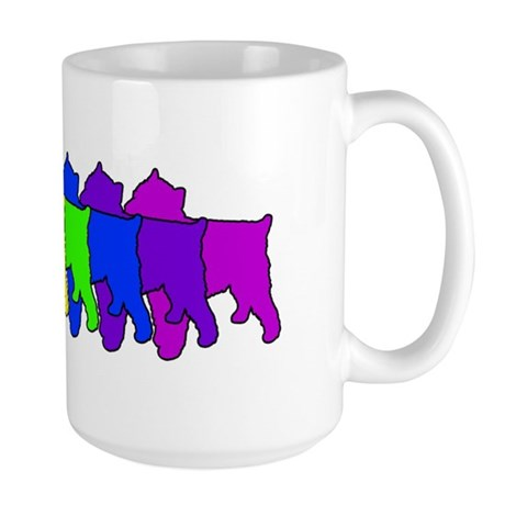 Rainbow Brussels Griffon Large Mug