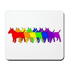 Rainbow Bull Terrier Mousepad