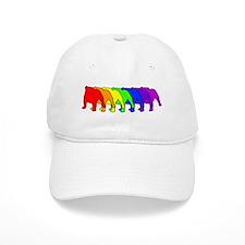 Rainbow Bulldog Baseball Cap