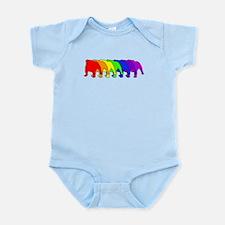 Rainbow Bulldog Infant Bodysuit