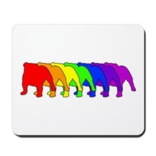 Rainbow Bulldog Mousepad
