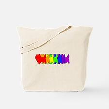 Rainbow Cairn Terrier Tote Bag