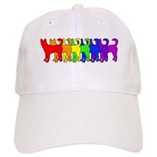 Rainbow Canaan Dog Baseball Cap