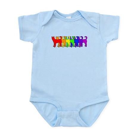 Rainbow Canaan Dog Infant Bodysuit