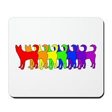 Rainbow Canaan Dog Mousepad