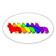 Rainbow Cardigan Oval Decal