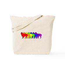 Rainbow Cavalier Tote Bag