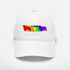 Rainbow Clumber Spaniel Baseball Baseball Cap