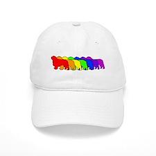 Rainbow Clumber Spaniel Baseball Cap