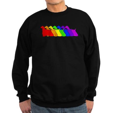 Rainbow Cocker Spaniel Sweatshirt (dark)