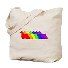 Rainbow Cocker Spaniel Tote Bag