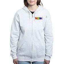 Rainbow Curly Zip Hoodie