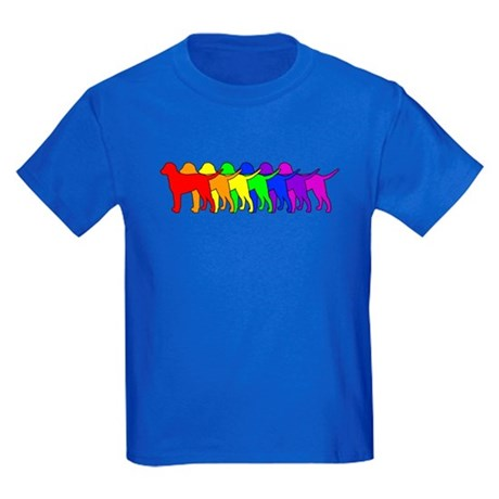 Rainbow Curly Kids Dark T-Shirt
