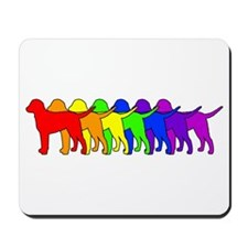 Rainbow Curly Mousepad