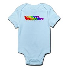 Rainbow Dachshund Infant Bodysuit