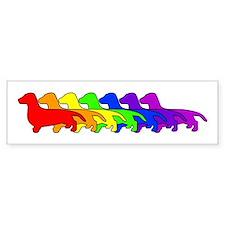 Rainbow Dachshund Bumper Bumper Sticker