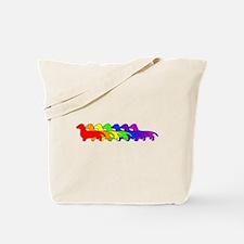Rainbow Dachshund Tote Bag