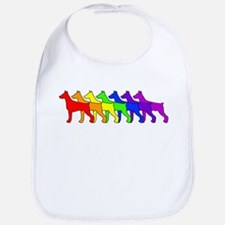 Rainbow Doberman Bib