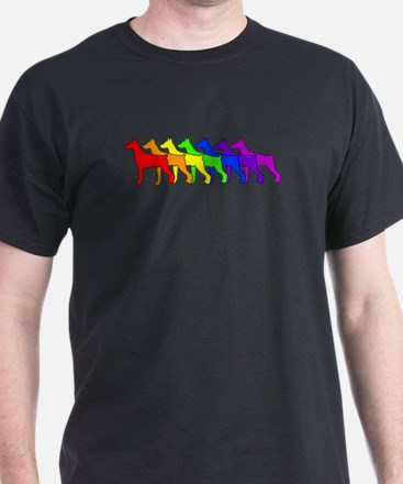 Rainbow Doberman T-Shirt