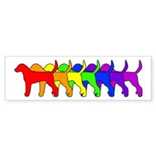 Rainbow Foxhound Bumper Car Sticker