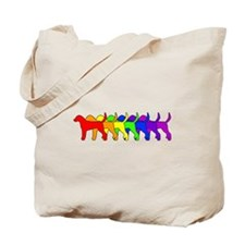 Rainbow Foxhound Tote Bag