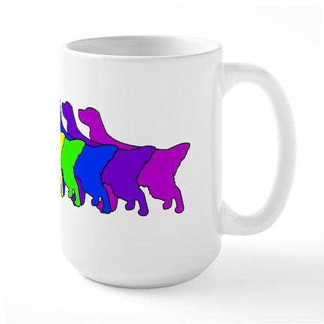 Rainbow English Setter Large Mug