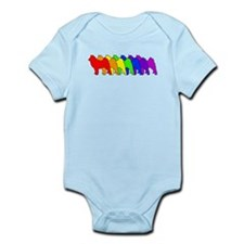 Rainbow Finnish Spitz Infant Bodysuit