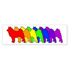 Rainbow Finnish Spitz Bumper Bumper Sticker