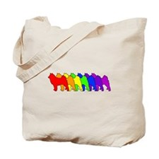 Rainbow Finnish Spitz Tote Bag