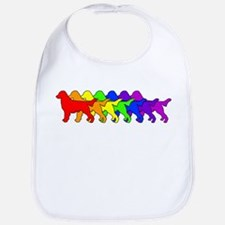 Rainbow Flatcoat Bib