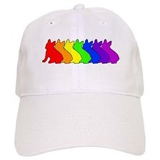 Rainbow Frenchie Baseball Cap