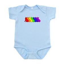 Rainbow Frenchie Infant Bodysuit
