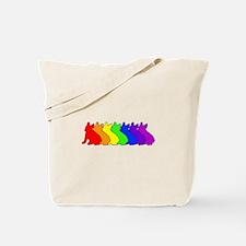 Rainbow Frenchie Tote Bag
