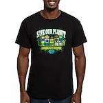 Earth Kids Iowa Men's Fitted T-Shirt (dark)