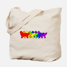 Rainbow Golden Tote Bag