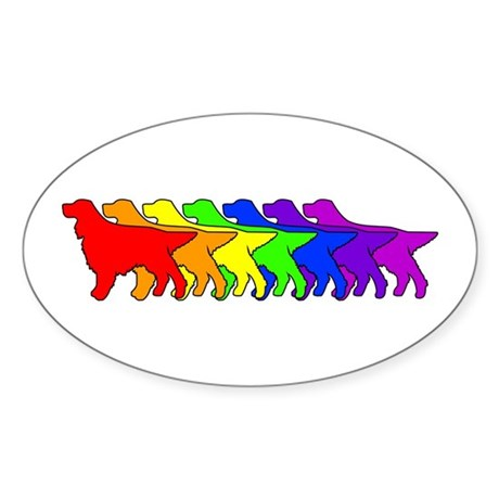 Rainbow Gordon Oval Sticker