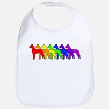 Rainbow Great Dane Bib
