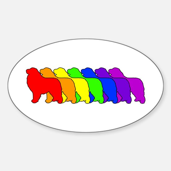Rainbow Pyrenees Oval Decal