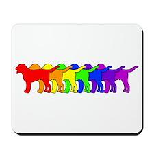 Rainbow Swissie Mousepad