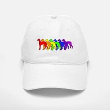 Rainbow Greyhound Baseball Baseball Cap