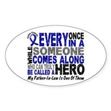 HERO Comes Along 1 Father-In-Law CC Oval Decal