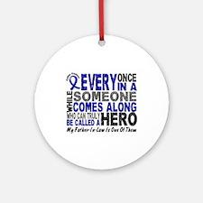 HERO Comes Along 1 Father-In-Law CC Ornament (Roun