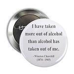 "Winston Churchill 14 2.25"" Button"
