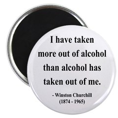 "Winston Churchill 14 2.25"" Magnet (100 pack)"