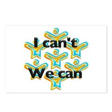I can't we can Postcards (Package of 8)
