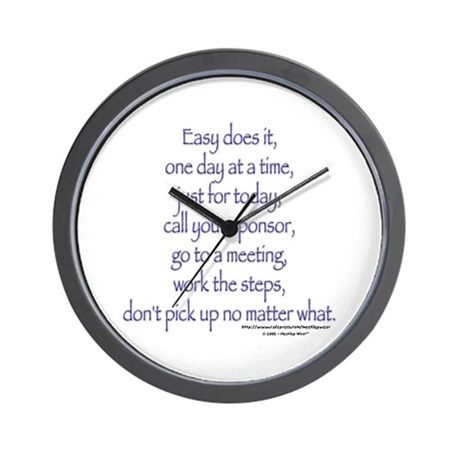 Easy does it! Wall Clock