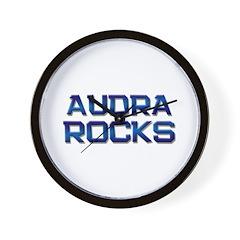 audra rocks Wall Clock