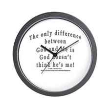 """God and Me!"" Wall Clock"